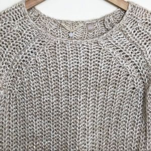 Anthropologie Knitted & Knotted Oat Gold Sweater